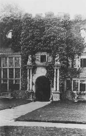 Tabley Old Hall - close-up of main entrance