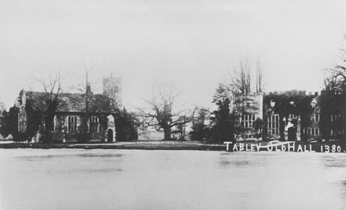 Tabley Old Hall - on the right
