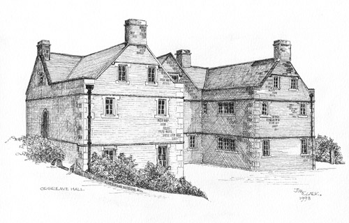 This Excellent Drawing Was Completed In 1993 Shortly Before The House Demolished It Drawn By Jim Clark Who Also Kindly Donated For Use On